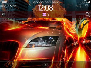 Temas para Blackberry gratis Wheels On Fire