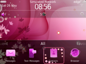 temas para Blackberry Abstract Pink Theme